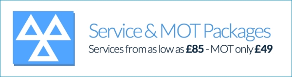 Service & MOT Packages Services from as low as £85 - MOT only £49