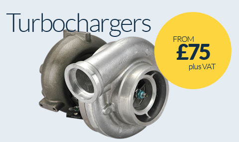 Turbocharger Replacements from £75 plus VAT
